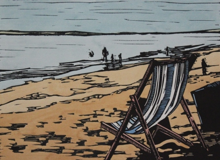 Deck chair on the beach - Mark Rowden