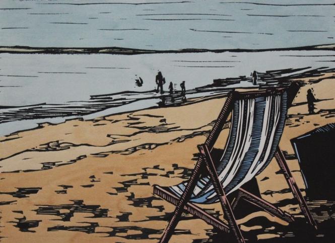 Deck chair on the beach - Mark Rowden