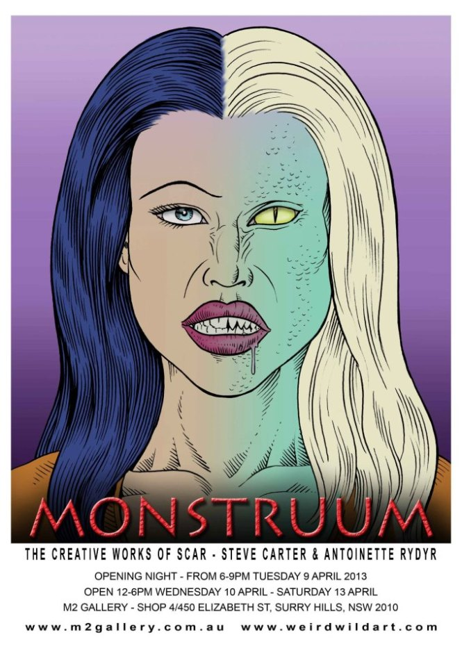 MONSTRUUM - THE CREATIVE WORKS OF SCAR - STEVE CARTER & ANTOINETTE RYDYR