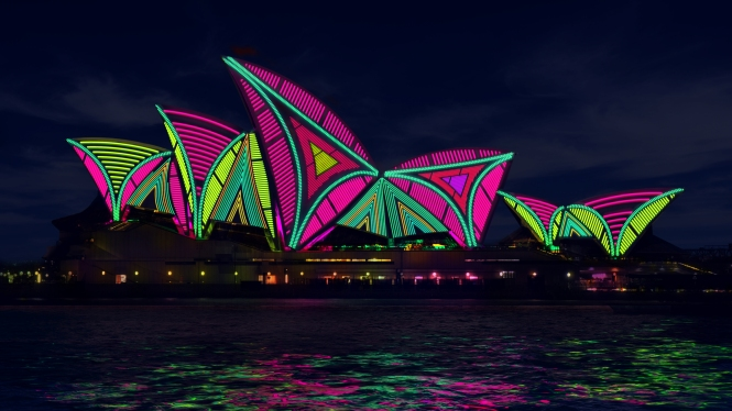 2013 - Vivid Light render - Lighting of the Sails by The Spinifex Group