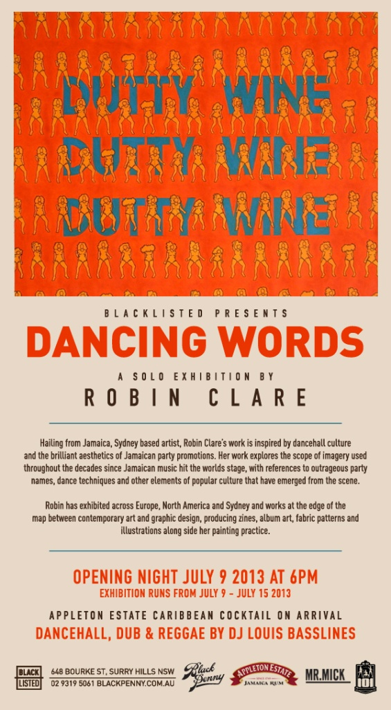 9th July Blacklisted_Robin_Clare_Dancing_Words